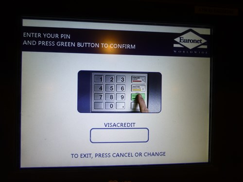 ATM操作手順(PIN入力)