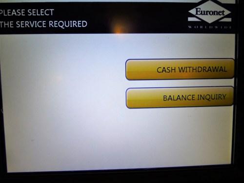 ATM操作手順