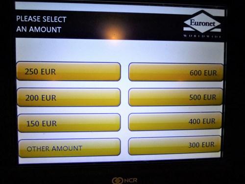 ATM操作手順(金額指定)