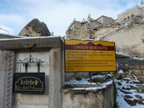 カッパドキアの洞窟ホテル(ケレベッキホテル)入口