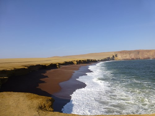 パラカス国立自然保護区の海岸線