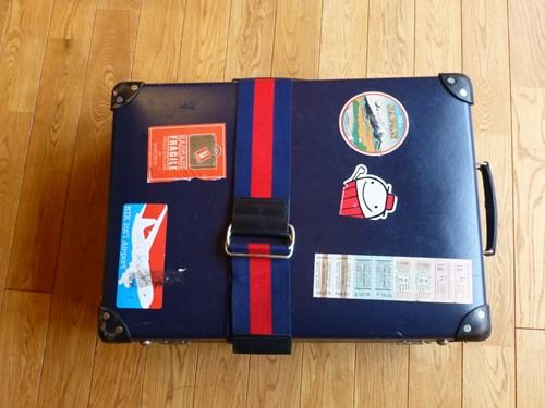 グローブ・トロッター(globe trotter)のスーツケース・サーフライダーの外観(スーツケースベルトあり)
