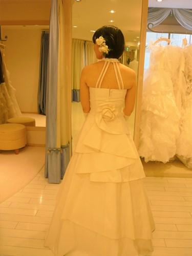 結婚式の衣装合わせ
