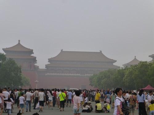 北京の故宮博物院(紫禁城)の午門周辺