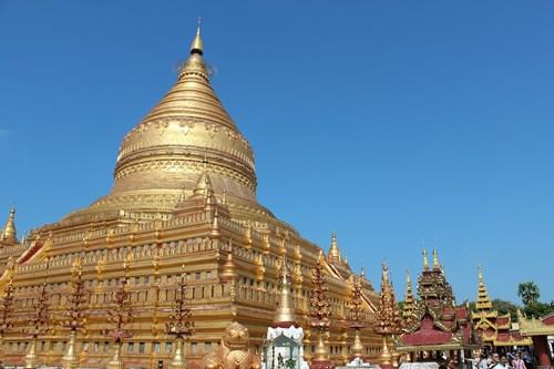シュエダゴン・パゴダの黄金の仏塔