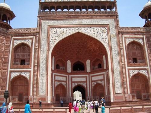 インドのタージ・マハル正門裏側