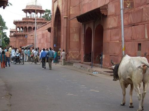 インドのタージ・マハルの西門
