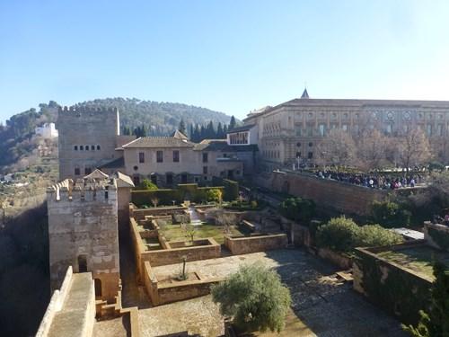 アルハンブラ宮殿のアルカサバ