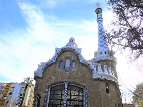 スペイン・バルセロナのグエル公園の管理小屋
