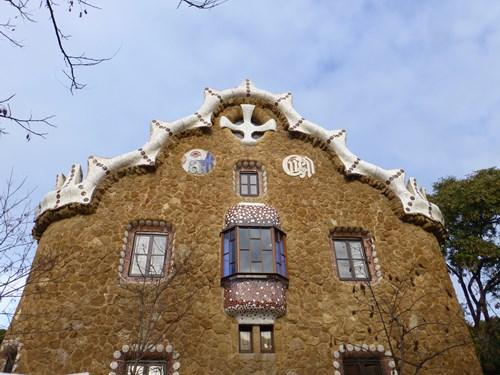 スペイン・バルセロナのグエル公園の守衛小屋