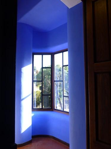 スペイン・バルセロナのグエル公園の守衛小屋内部