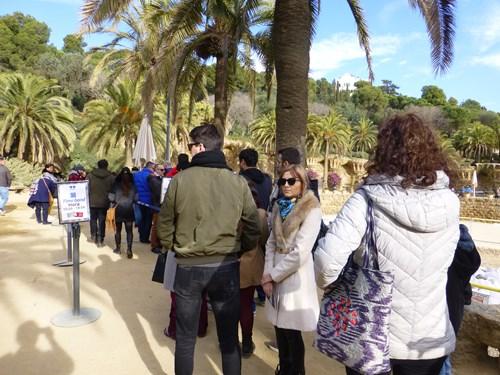 スペイン・バルセロナのグエル公園の有料エリアへの入口