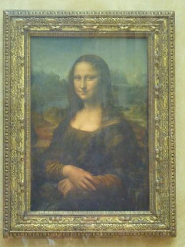 パリ・ルーブル美術館のモナリザ
