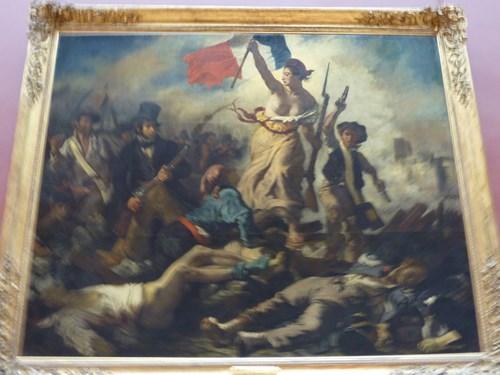 パリ・ルーブル美術館の民衆を導く自由の女神