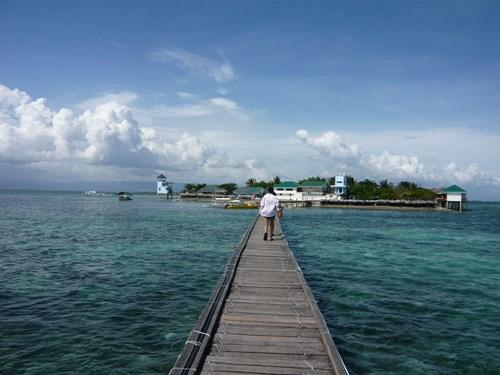 フィリピン・セブのナルスアン島の桟橋