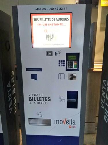 バルセロナの北バスターミナルチケット販売機