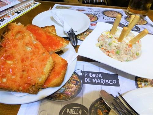 バルセロナのpicassoの料理