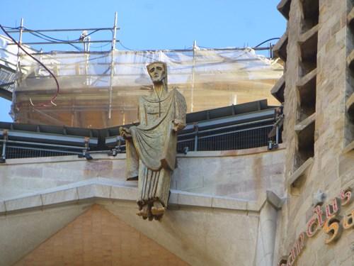 スペイン・バルセロナのサグラダファミリアの受難のファサードのキリスト