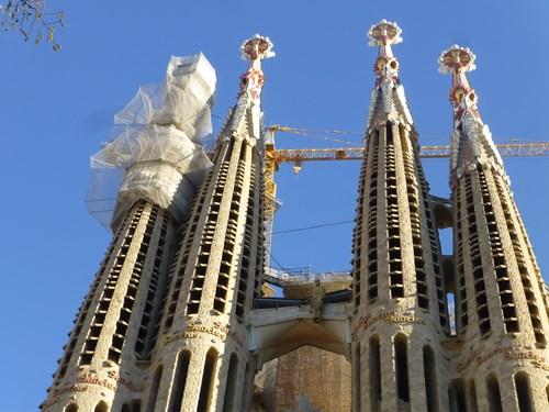 スペイン・バルセロナのサグラダファミリアの鐘楼