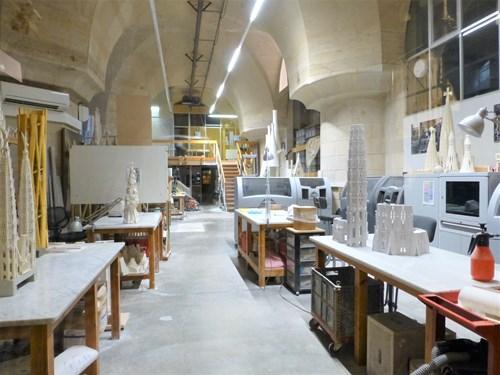 スペイン・バルセロナのサグラダファミリアの工房
