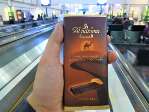 ラクダ乳のチョコレート