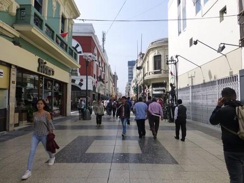 ペルー・リマのラウニオン通り