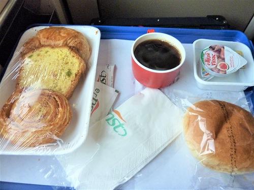 アベラ・エジプト(寝台列車)の朝食