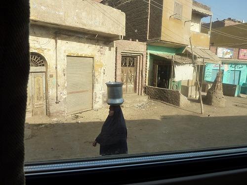 エジプトの寝台列車からの眺め