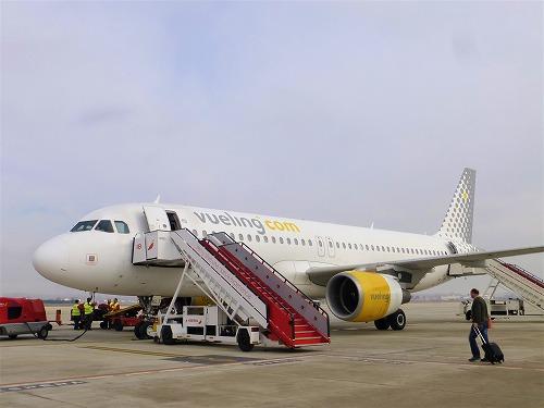 スペインのブエリング航空の機体