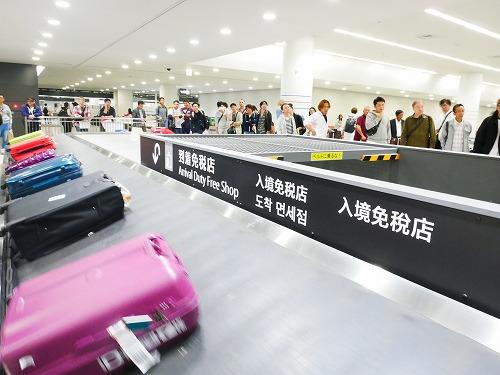 中部国際空港のターンテーブル