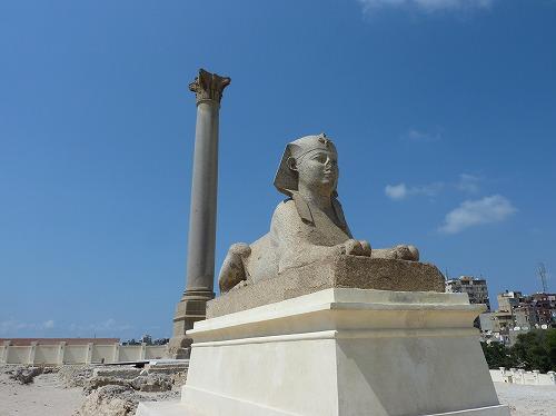 エジプト・アレクサンドリアのポンペイの柱