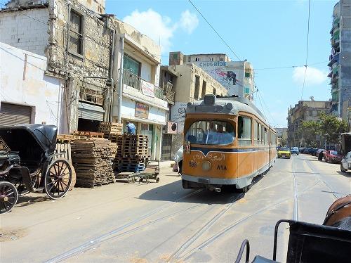 エジプト・アレクサンドリアを走る路面電車