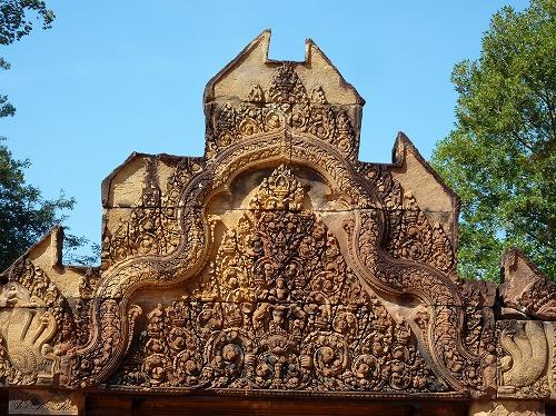 カンボジア・アンコール遺跡群のバンテアイスレイのレリーフ