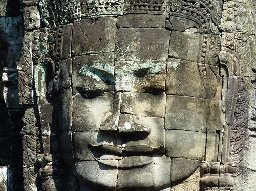 カンボジア・アンコール遺跡群のバイヨンの巨顔