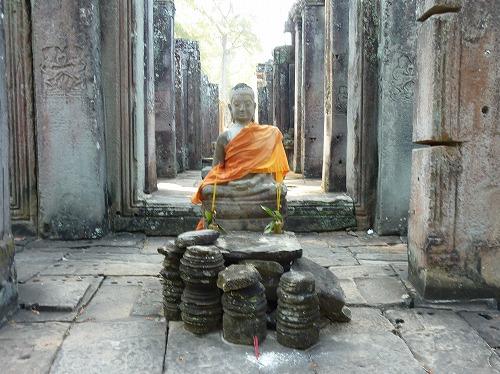 カンボジア・アンコール遺跡群のバイヨンの仏像