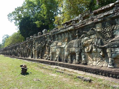 カンボジア・アンコール遺跡群の象のテラス
