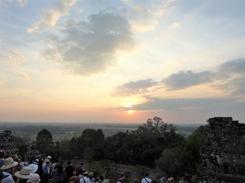 カンボジア・アンコール遺跡群のプノンパケンからの眺め