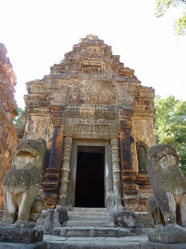 カンボジア・ロリュオス遺跡群のプリアコー