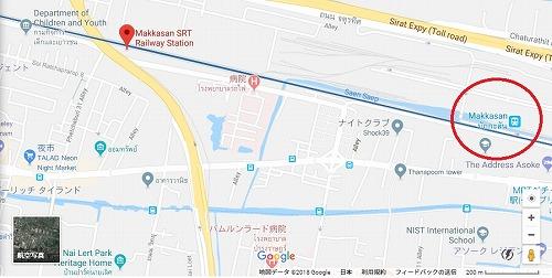 タイ・バンコクの地図