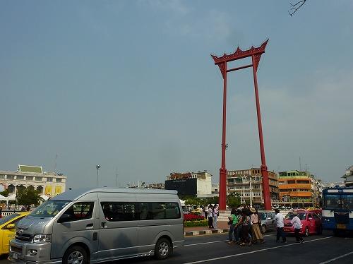 タイのバンコクにあるワット・スタット近くにあるサオ・チン・チャー(大ブランコ)