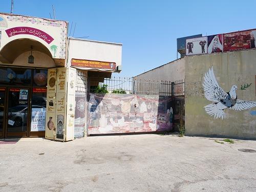 ベツレヘム(パレスチナ)にあるバンクシーのアートが書かれた場所