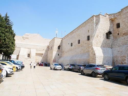 ベツレヘム(パレスチナ)の聖誕教会の外観