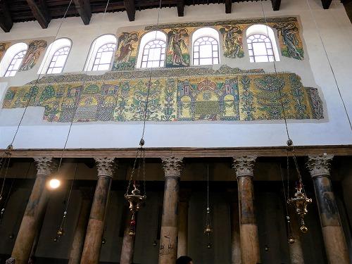 ベツレヘム(パレスチナ)の聖誕教会内部