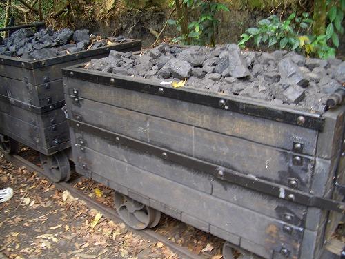オーストラリア・ブルーマウンテンズ国立公園内の炭鉱の様子を再現した展示物
