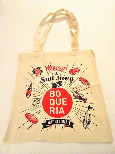 スペイン・バルセロナのサンジュセップ市場(ボケリア)で売られていたエコバッグ