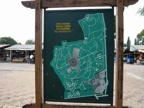 インドネシアのボロブドゥール遺跡の地図
