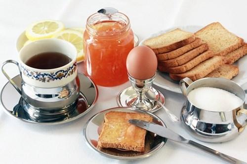 欧米風の朝食