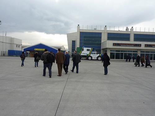 トルコのカッパドキア近くのカイセリ・エルキレット国際空港