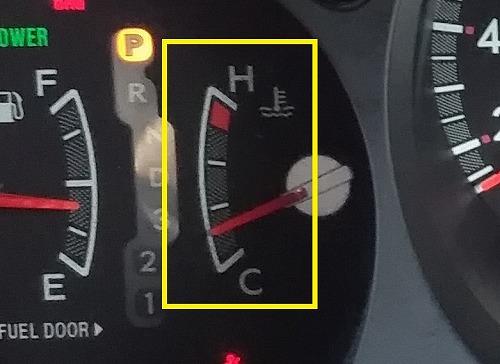 自動車の水温計