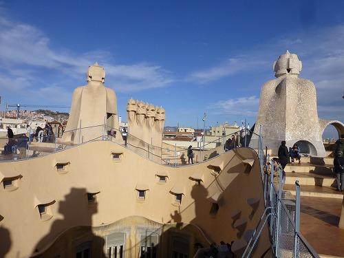 スペイン・バルセロナのカサ・ミラ屋上